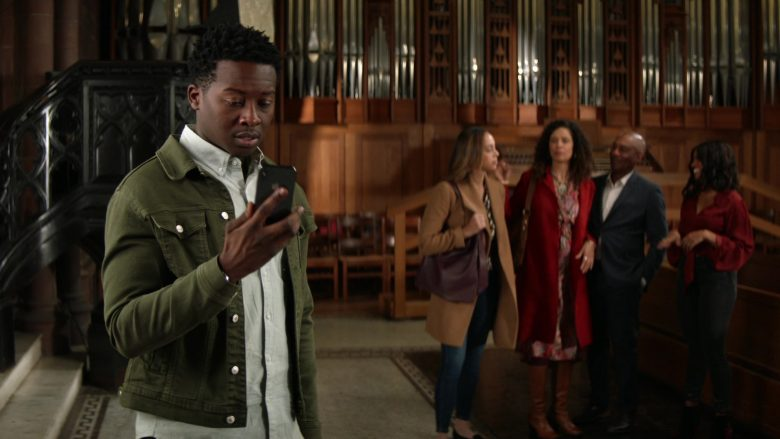 "Apple iPhone Smartphone Held by Brandon Micheal Hall as Miles Finer in God Friended Me Season 2 Episode 12 ""BFF"" (2020) TV Show"