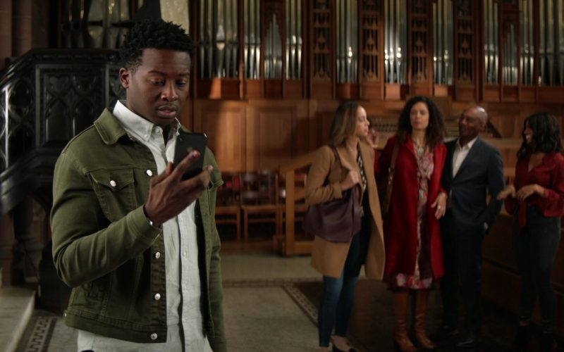 Apple iPhone Smartphone Held by Brandon Micheal Hall as Miles Finer in God Friended Me Season 2 Episode 12 BFF