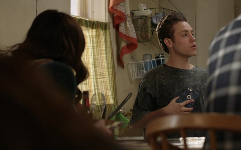 Apple iPhone Smartphone Held by Ethan Cutkosky as Carl Gallagher in Shameless Season 10 Episode 12 (2020)