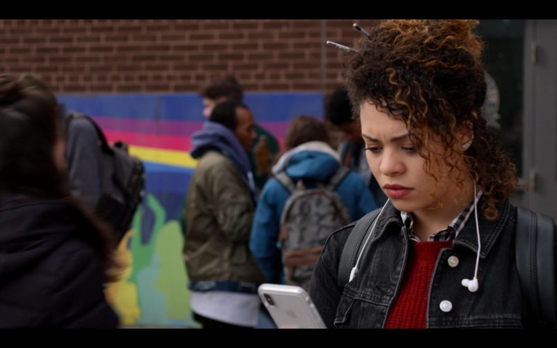 Apple iPhone Smartphone Used by Aurora Burghart as Viv Allen in October Faction Season 1 Episode 3 The Horror Out of Time (2020)