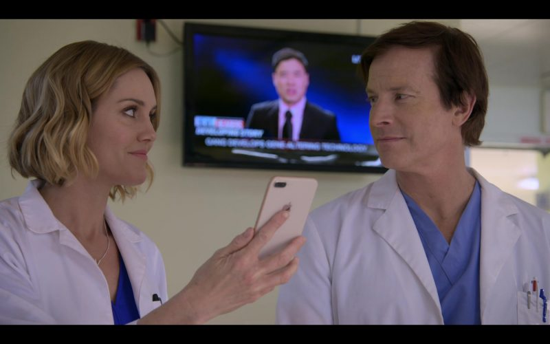 Apple iPhone Smartphone Used by Erinn Hayes as Dr. Lola Spratt in Medical Police Season 1 Episode 10