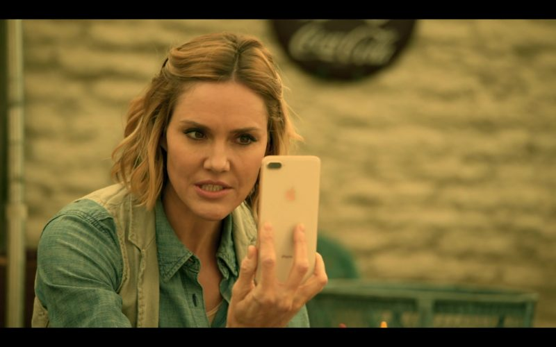 Apple iPhone Smartphone Used by Erinn Hayes as Dr. Lola Spratt in Medical Police Season 1 Episode 4 Mature Group Action (2020)