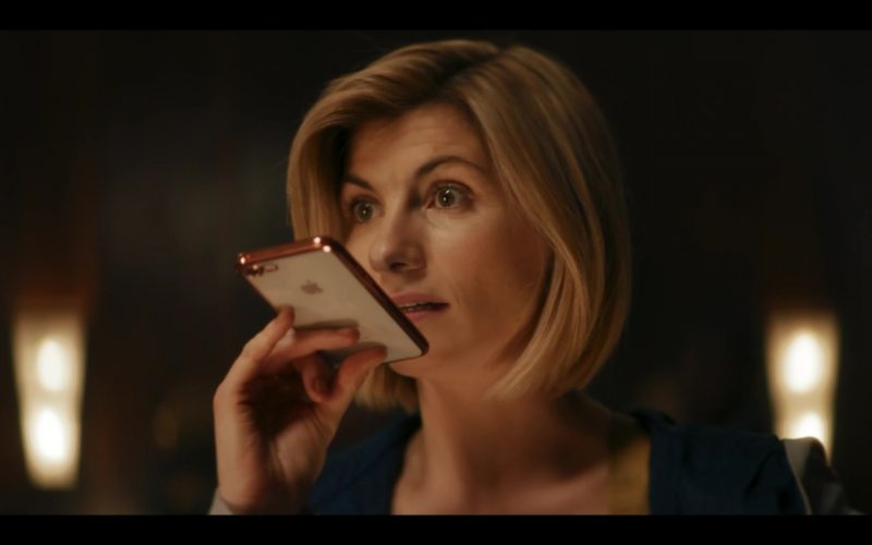 Apple iPhone Smartphone Used by Jodie Whittaker in Doctor Who Season 12 Episode 1 Spyfall, Part 1 (2020)