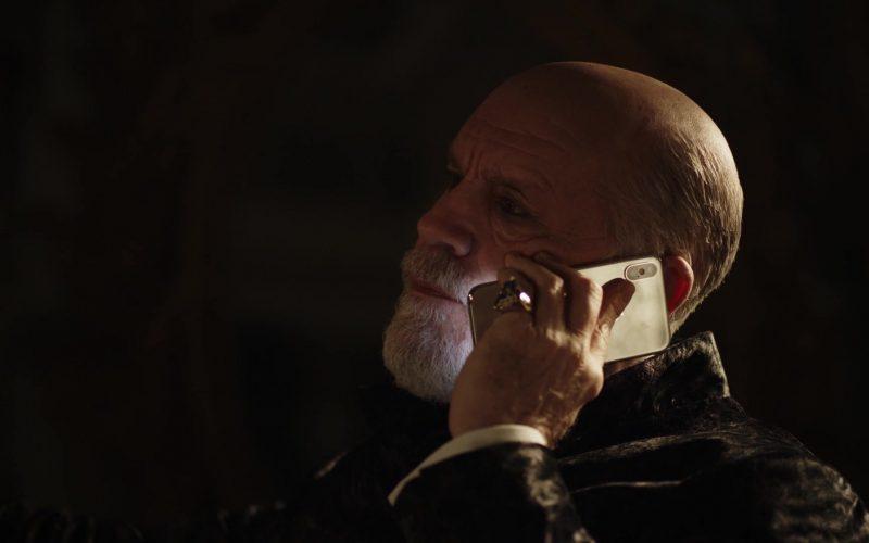Apple iPhone Smartphone Used by John Malkovich as Pope John Paul III (born John Brannox) in The New Pope Season 1 Episode