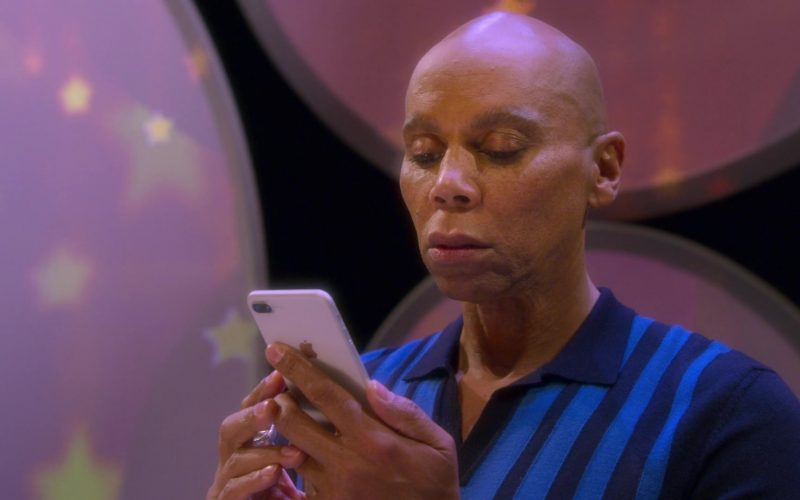 Apple iPhone Smartphone Used by RuPaul Andre Charles as Ruby Red in AJ and the Queen Season 1 Episode 10 Dallas (2020)