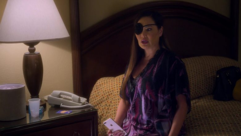 Apple iPhone Smartphone Used by Tia Carrere (Althea Rae Duhinio Janairo) as Lady Danger in AJ and the Queen (4)