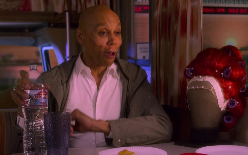 Arrowhead Water Bottle Held by RuPaul Andre Charles as Ruby Red in AJ and the Queen Season 1 Episode 10 Dallas (1)