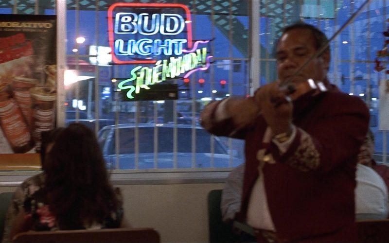 Bud Light Beer Neon Sign in Fools Rush In (1997)