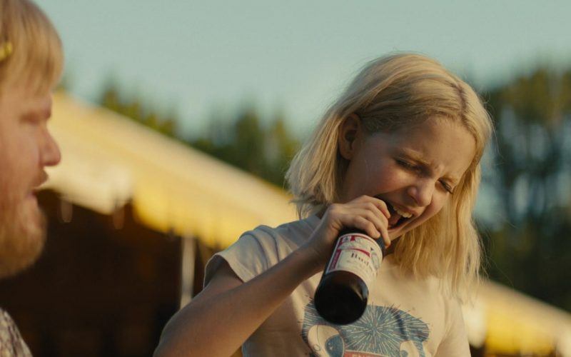 Budweiser Beer Bottles Held by Mckenna Grace as Christmas Flint in Troop Zero (2)