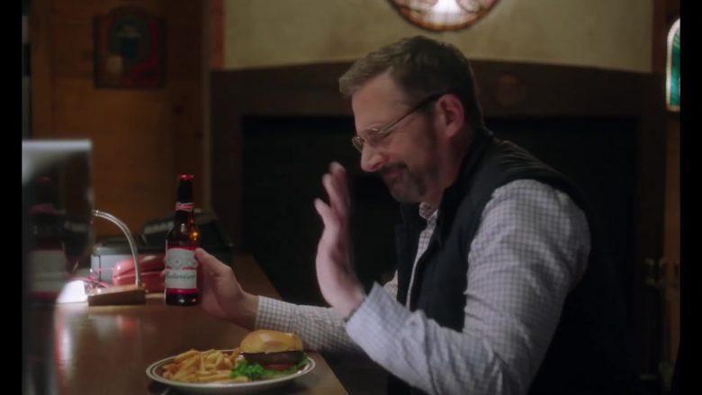 Budweiser Beer Enjoyed by Steve Carell in Irresistible (2020) Movie