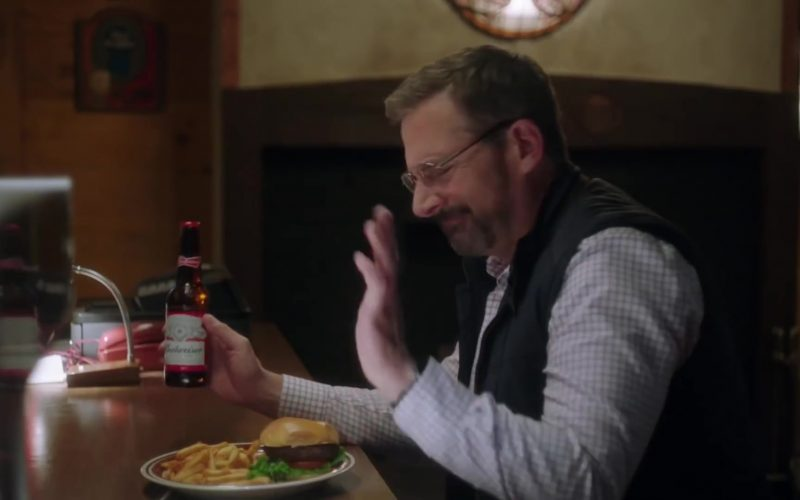 Budweiser Beer Enjoyed by Steve Carell in Irresistible (2020)