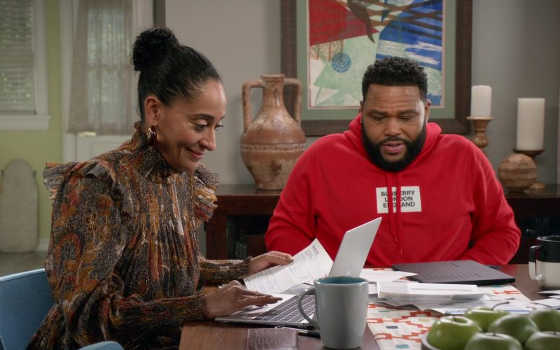 Burberry London England Hoodie in Red Worn by Anthony Anderson as Dre in Black-ish Season 6 Episode 14 (1)