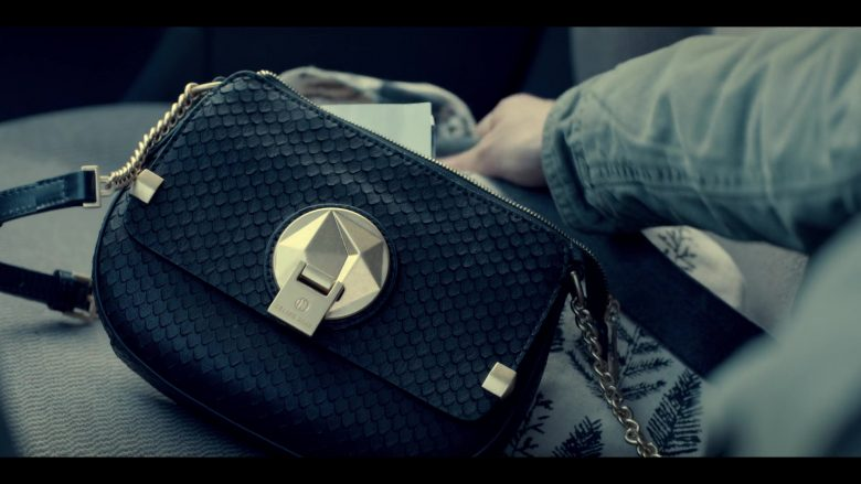 Céline Dion Handbag Used by Kaya Scodelario as Kat Baker in Spinning Out Season 1 Episode 1 Now Entering Sun Valley (2020)