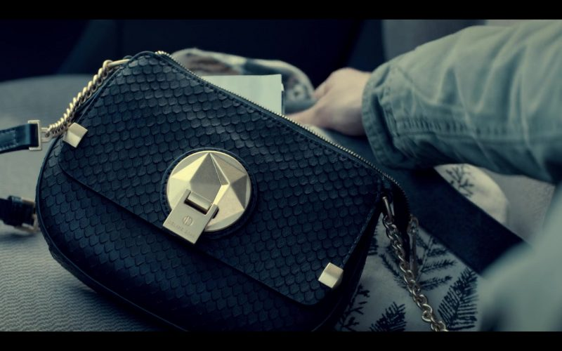 Céline Dion Handbag Used by Kaya Scodelario as Kat Baker in Spinning Out Season 1 Episode 1 Now Entering Sun Valley (2020)