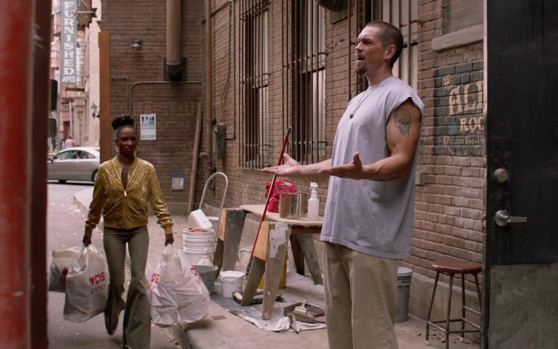 CVS Pharmacy Plastic Bags Held by Shanola Hampton as Veronica 'V' Fisher in Shameless Season 10 Episode 9 O Captain, My Captain (1)
