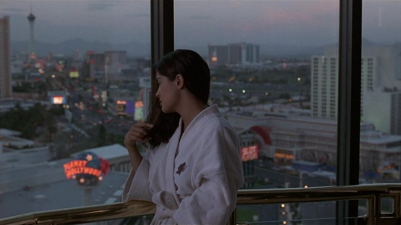 Caesars Palace Bathrobe Worn by Salma Hayek as Isabel Fuentes-Whitman in Fools Rush In (1997) - Movie Product Placement