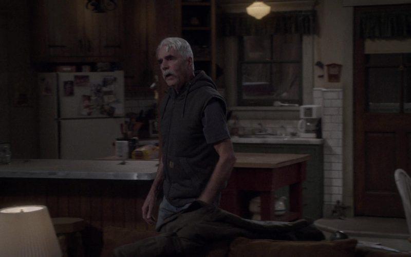Carhartt Hoodie Vest Worn by Sam Elliott as Beau Roosevelt Bennett in The Ranch Season 4 Episode 12 (1)