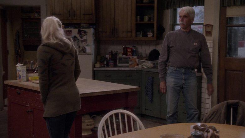Carhartt Long Sleeve T-Shirt Worn by Sam Elliott as Beau Roosevelt Bennett in The Ranch Season 4 Episode 18 (1)