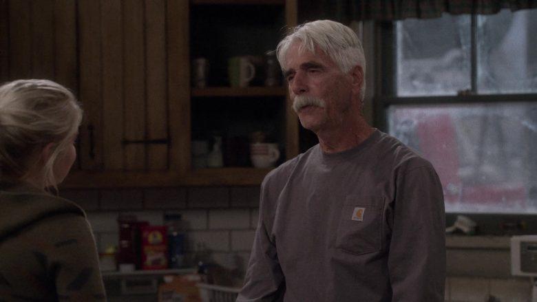 Carhartt Long Sleeve T-Shirt Worn by Sam Elliott as Beau Roosevelt Bennett in The Ranch Season 4 Episode 18 (2)