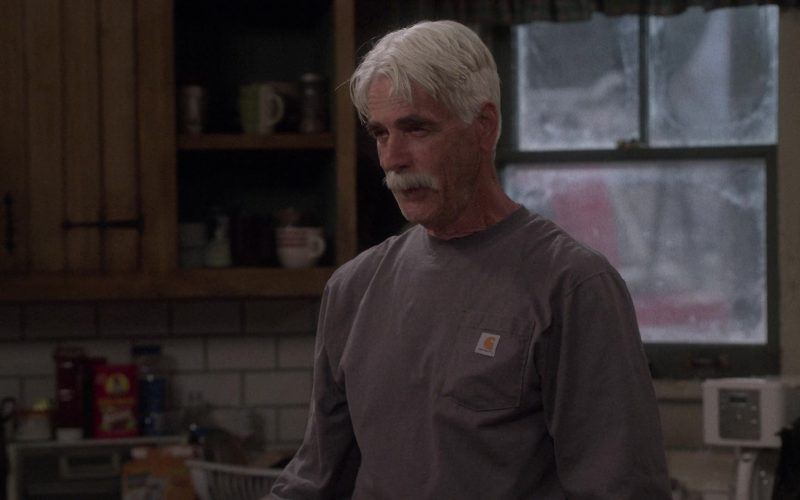 Carhartt Long Sleeve T-Shirt Worn by Sam Elliott as Beau Roosevelt Bennett in The Ranch Season 4 Episode 18 (4)