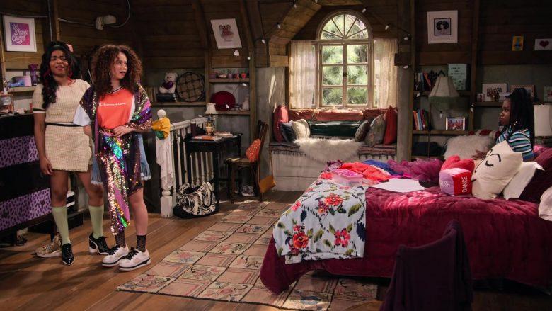 Champion Tee Worn by Talia Jackson as Jade McKellan in Family Reunion Season 1 Episode 20 (2)