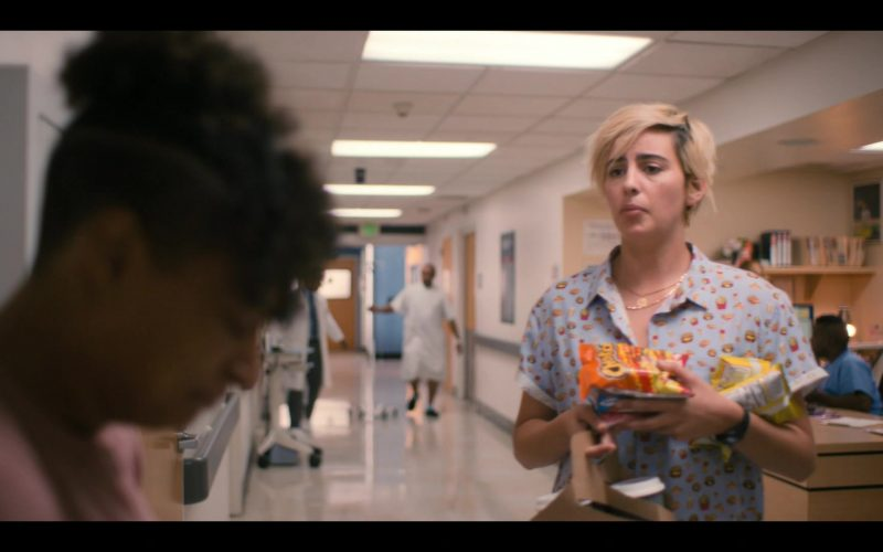 Cheetos Snack Held by Jacqueline Toboni as Sarah Finley in The L Word Generation Q Season 1 Episode 7 Lose It All (2020)