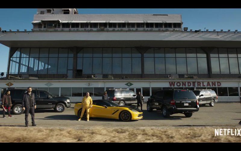 Chevrolet Corvette Yellow Sports Car in Spenser Confidential (2020)