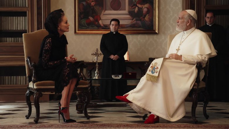 Christian Louboutin High Heel Shoe Pumps Worn by Sharon Stone in The New Pope Season 1 Episode 5 (2020) TV Show