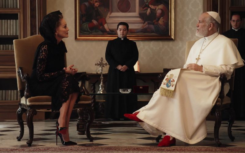Christian Louboutin High Heel Shoe Pumps Worn by Sharon Stone in The New Pope Season 1 Episode 5 (1)