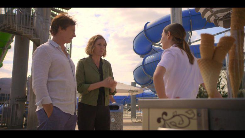 """Coca-Cola Umbrella in Medical Police Season 1 Episode 4 """"Mature Group Action"""" (2020) TV Show"""