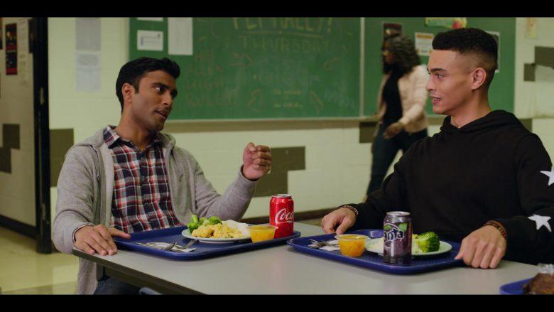 Coca-Cola and Fanta Grape Soda Enjoyed by Praneet Akilla and Gabriel Darku in October Faction Season 1 Episode 2 No Country for Old Vam