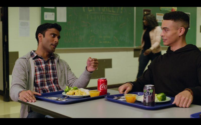 Coca-Cola and Fanta Grape Soda Enjoyed by Praneet Akilla and Gabriel Darku in October Faction Season 1 Episode 2 No Country for Old Vam