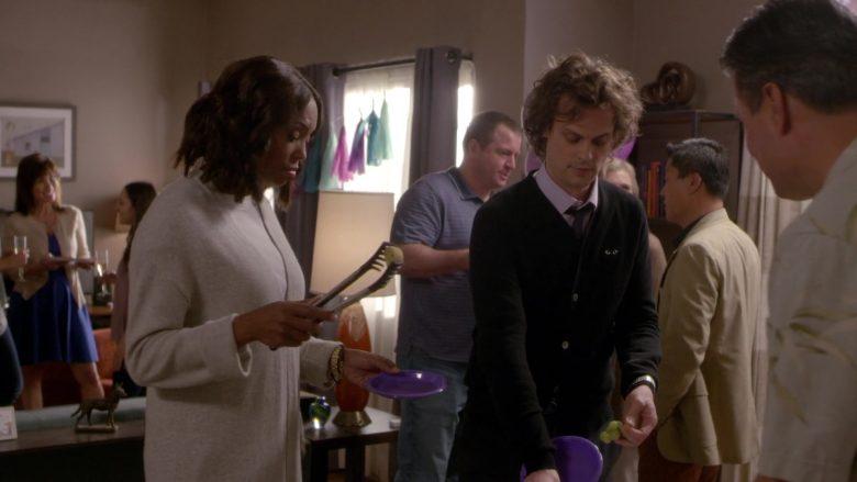 Comme des Garçons Black Cardigan Worn by Matthew Gray Gubler as Spencer Reid in Criminal Minds Season 15 Episode 1 (1)