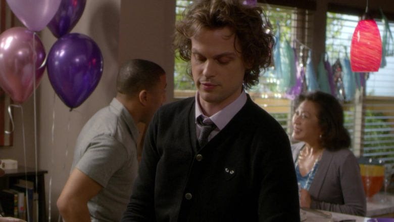 Comme des Garçons Black Cardigan Worn by Matthew Gray Gubler as Spencer Reid in Criminal Minds Season 15 Episode 1 (3)