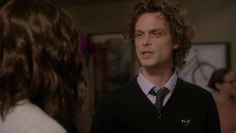 Comme des Garçons Black Cardigan Worn by Matthew Gray Gubler as Spencer Reid in Criminal Minds Season 15 Episode 1 (5)