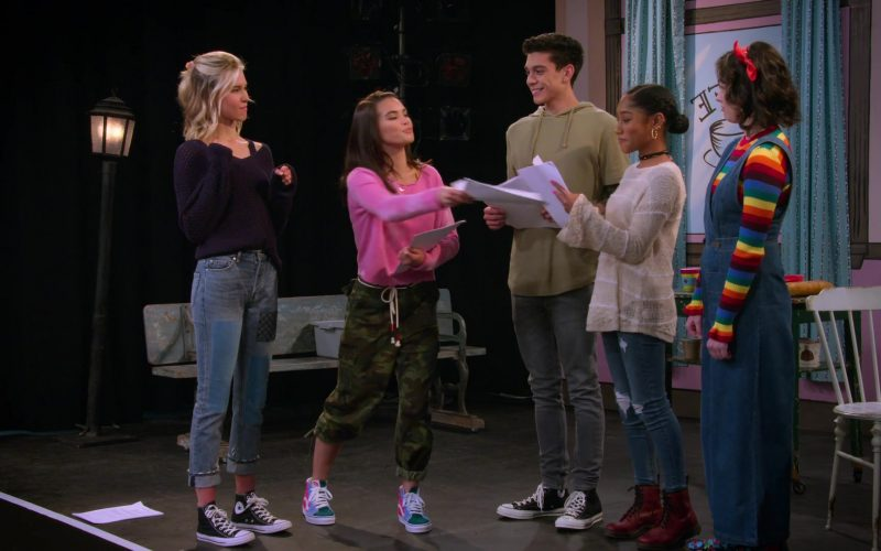 Converse High Top Shoes Worn by Isabel May in Alexa & Katie Season 3 Episode 6 Writer-Director-Nervous Wreck