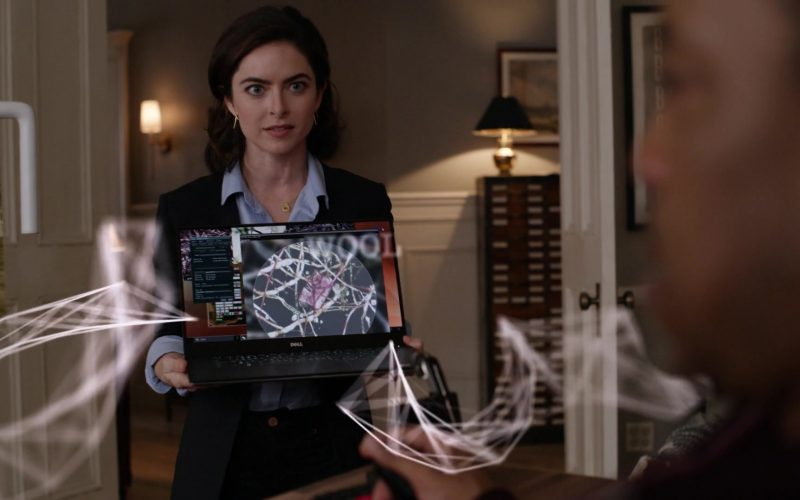 Dell Laptop Held by Brooke Lyons as Kate in Lincoln Rhyme Hunt for the Bone Collector Season 1 Episode 1 Pilot (1)