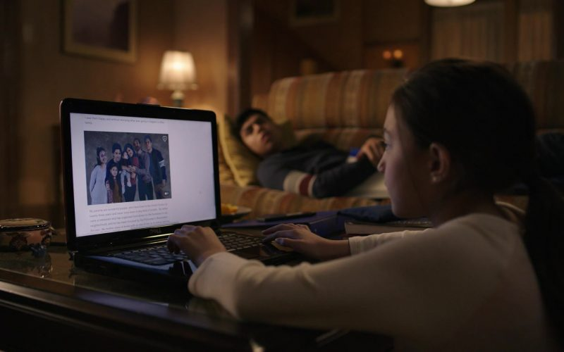 Dell Laptop Used by Elle Paris Legaspi as Valentina Acosta in Party of Five Season 1 Episode 1 Pilot (2020)