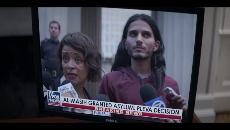 Dell Monitor and Fox News TV Channel in Messiah Season 1 Episode 3 The Finger of God (2020)