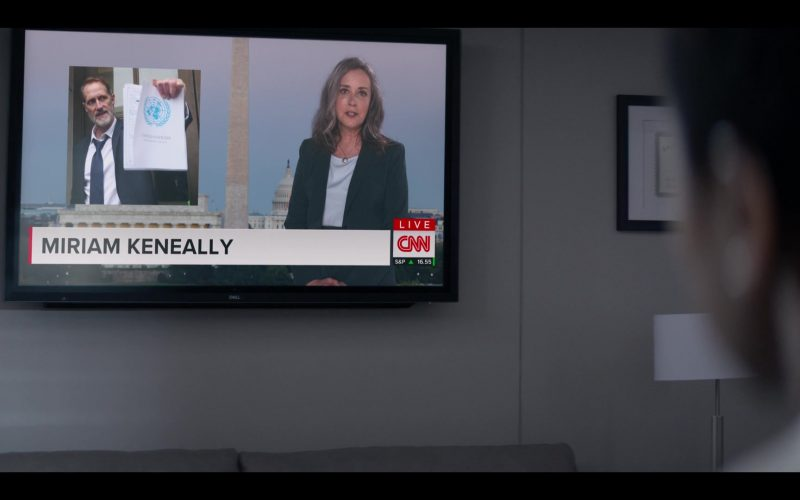Dell TV and CNN Channel in Messiah Season 1 Episode 10 The Wages of Sin (2020)