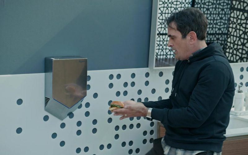 Dyson Airblade V Hygienic Hand Dryer Used by Ty Burrell as Phil Dunphy in Modern Family Season 11 Episode 10 (1)