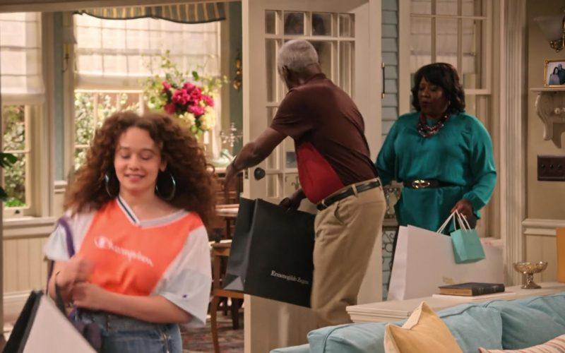 Ermenegildo Zegna Black Paper Bag in Family Reunion Season 1 Episode 20