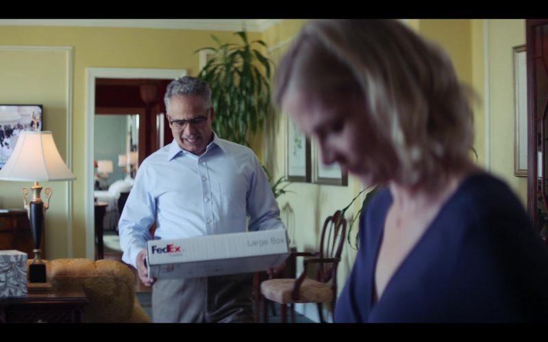 FedEx Package Held by John Ortiz as Felix in Messiah Season 1 Episode 7 It Came to Pass as It Was Spoken (2020)