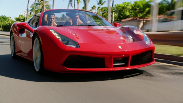 Ferrari Red Convertible Sports Car Used by Jay Hernandez as Thomas Magnum and Alex O'Loughlin as Lieutenant Commander Steven J. McGarrett in Hawaii Five-0 Season 10 Episode 12 (2020) - TV Show Product Placement