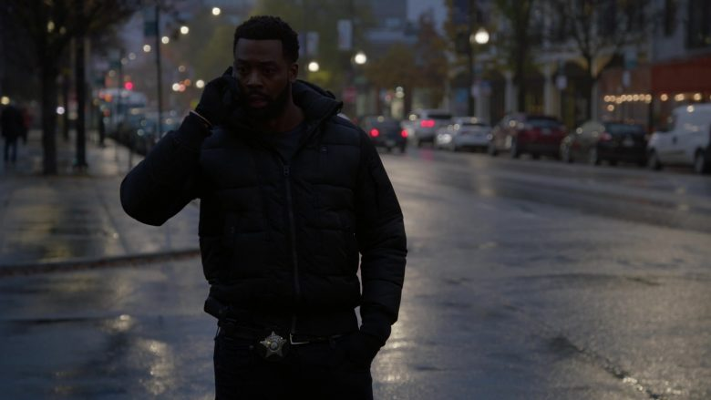 G-Star RAW Puffer Jacket Worn by LaRoyce Hawkins as Officer Kevin Atwater in Chicago P.D. Season 7 Episode 10 Mercy (1)