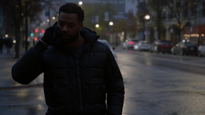 G-Star RAW Puffer Jacket Worn by LaRoyce Hawkins as Officer Kevin Atwater in Chicago P.D. Season 7 Episode 10 Mercy (2)