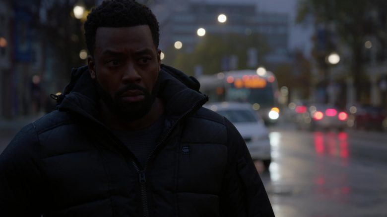 G-Star RAW Puffer Jacket Worn by LaRoyce Hawkins as Officer Kevin Atwater in Chicago P.D. Season 7 Episode 10 Mercy (3)