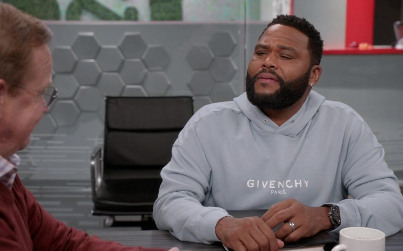 Givenchy Hoodie Worn by Anthony Anderson as Dre in Black-ish Season 6 Episode 13 Kid Life Crisis