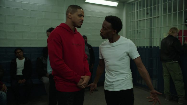 Givenchy Paris Red Hoodie For Men in Power Season 6 Episode 11 Still Dre (2)