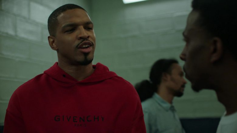 Givenchy Paris Red Hoodie For Men in Power Season 6 Episode 11 Still Dre (3)
